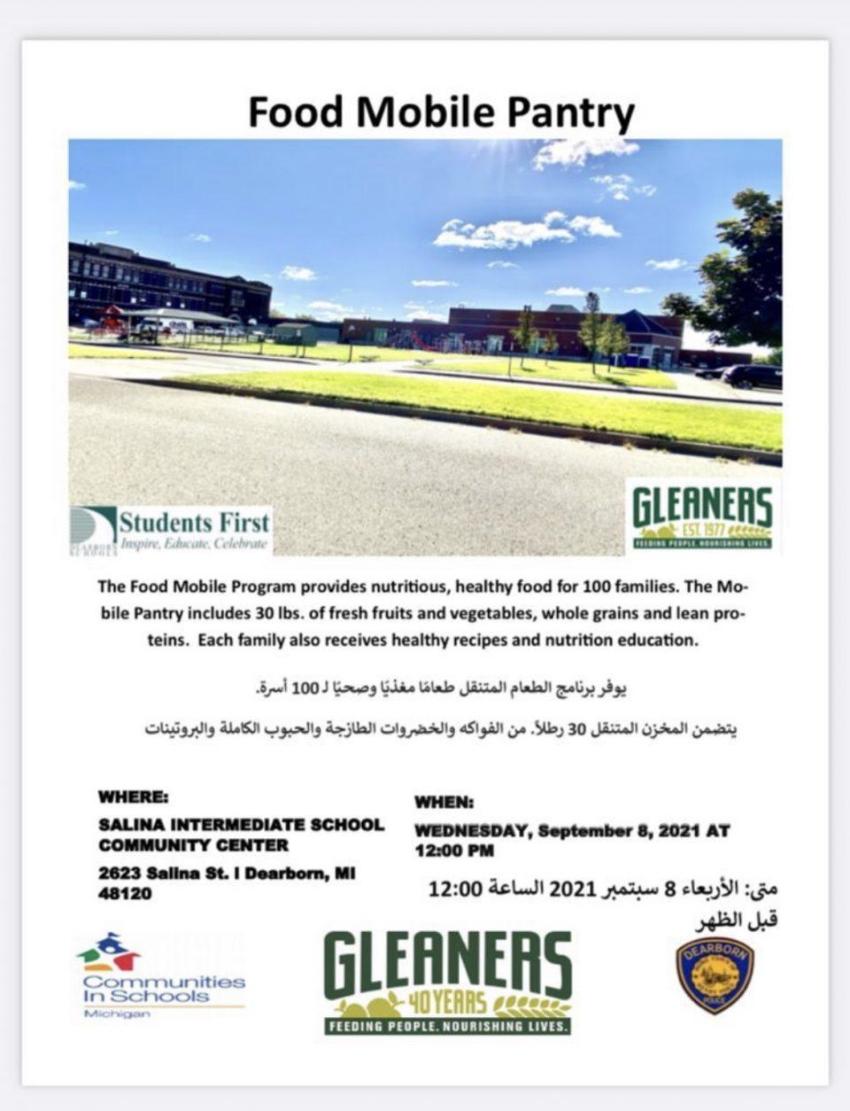 Mobile Food Pantry Tomorrow September 8 at 12 PM